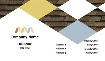 Shingle Construction Business Card Template
